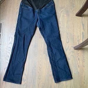 Boot cut maternity jeans